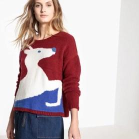 Imagen de Jersey navideño, cuello redondo La Redoute Collections