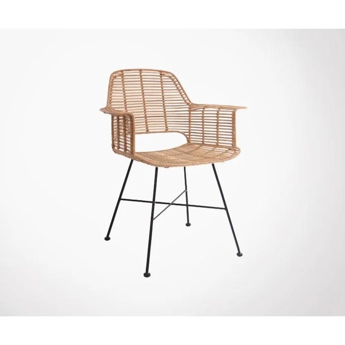 fauteuil de table design en rotin cariaco