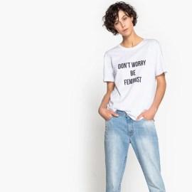 Imagen de Camiseta con mensaje La Redoute Collections