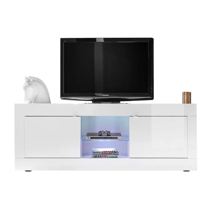 meuble tv design laque 180 cm latte