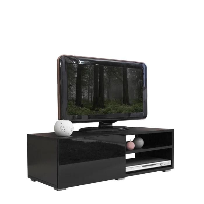 meuble tv podium 2 niches et 1 porte 96 x 31