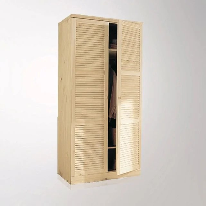 armoire pin massif h205 cm penderie mayor