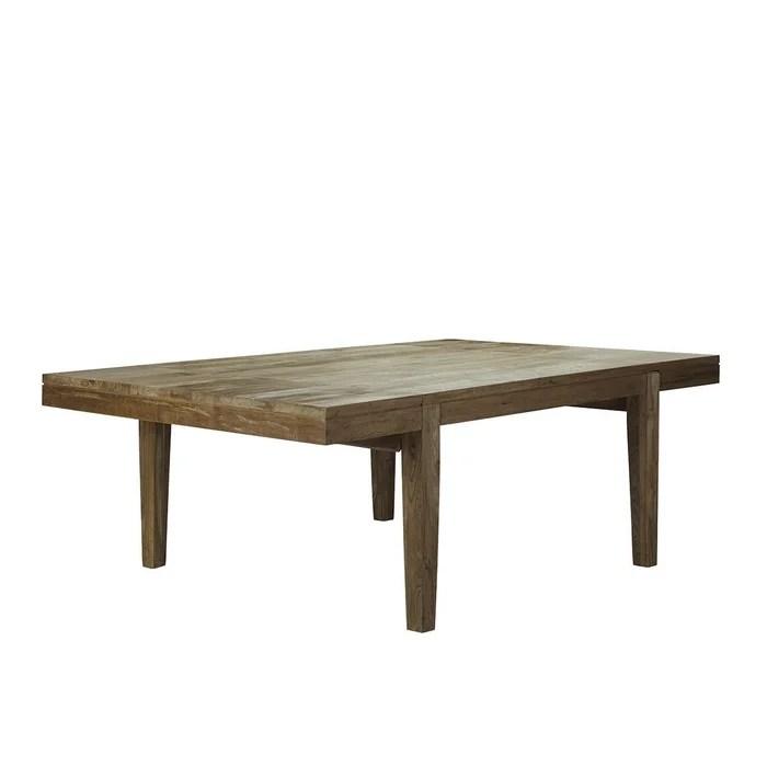 table extensible en bois de teck recycle 10 a 12 couverts