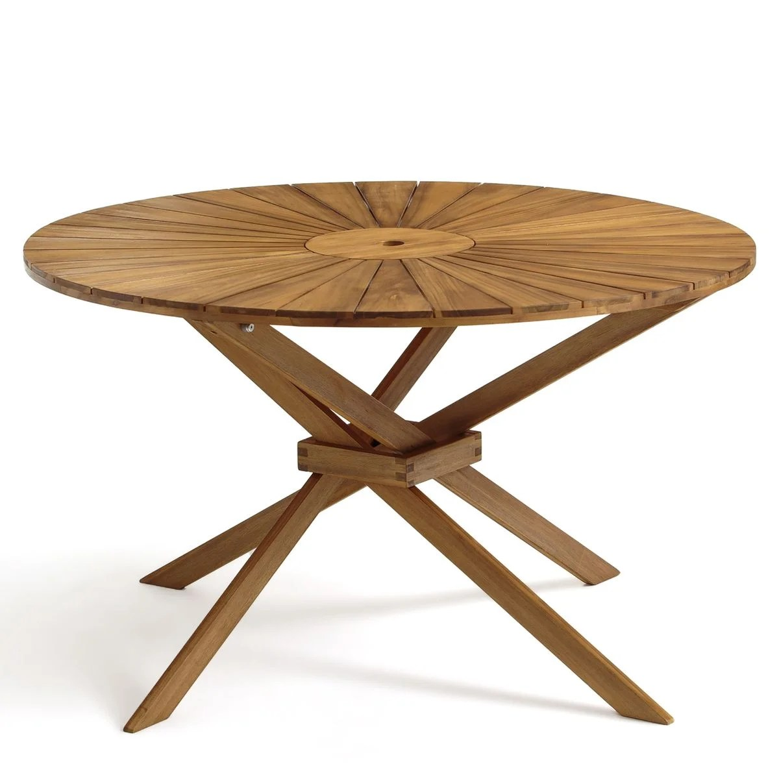 table de jardin ronde jakta