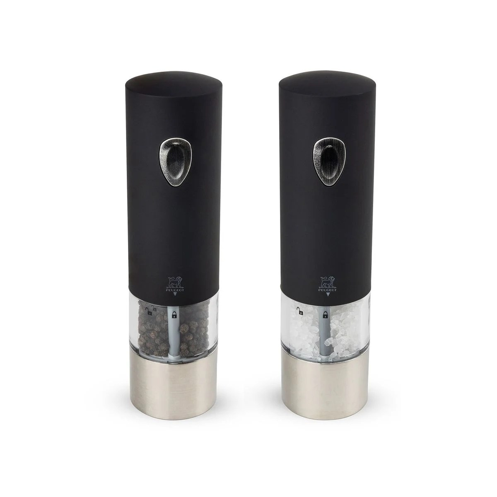 duo de moulin a poivre et sel electrique peugeot noir 20cm lenix