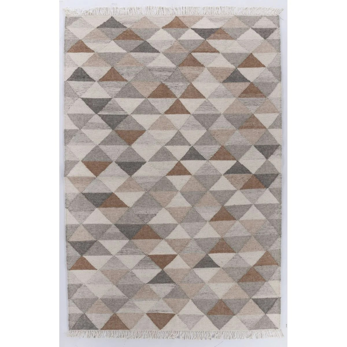 tapis salon vintage triangle tisse main laine