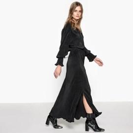 Imagen de Vestido largo con abertura y cordón deslizante con borla La Redoute Collections