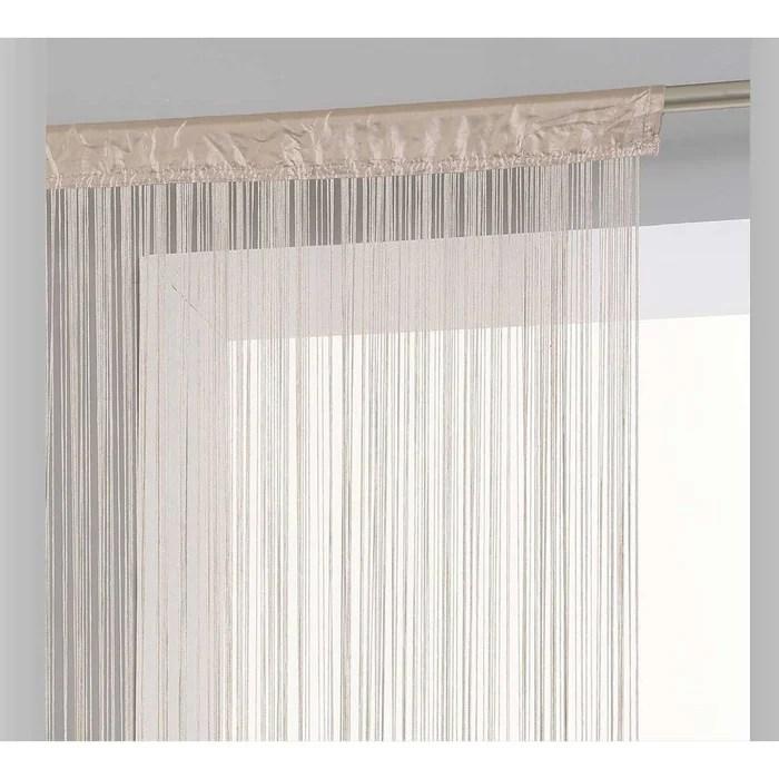 rideau de fils unis et colores