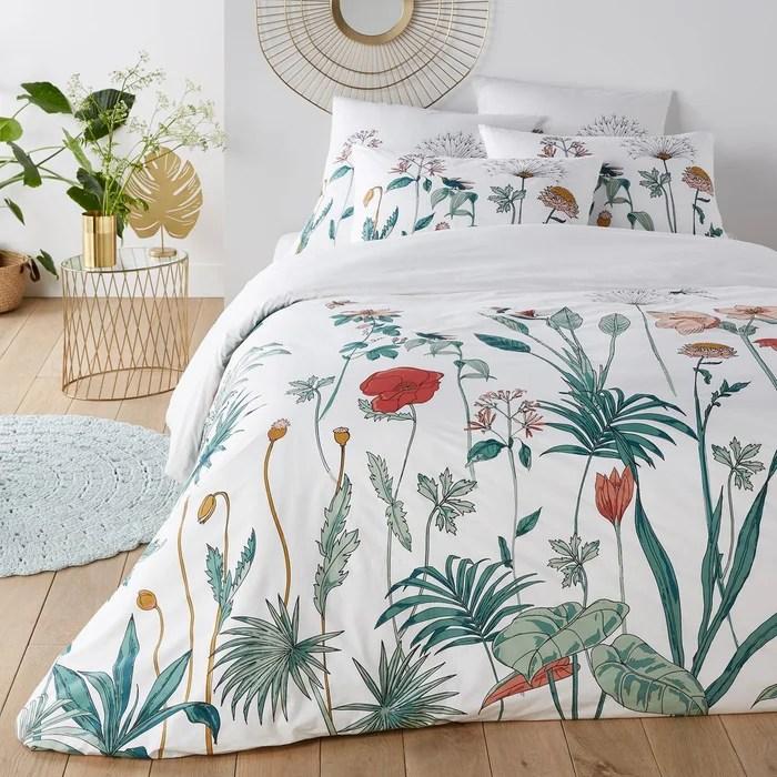 Housse De Couette Percale Eden Garden Imprime Fleurs La Redoute Interieurs La Redoute