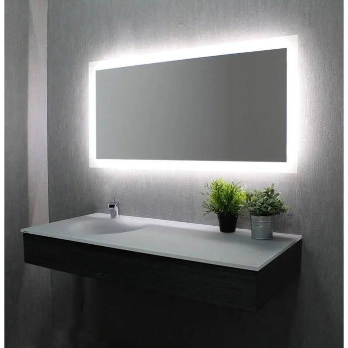 miroir led 60 cm x 120 cm hxl
