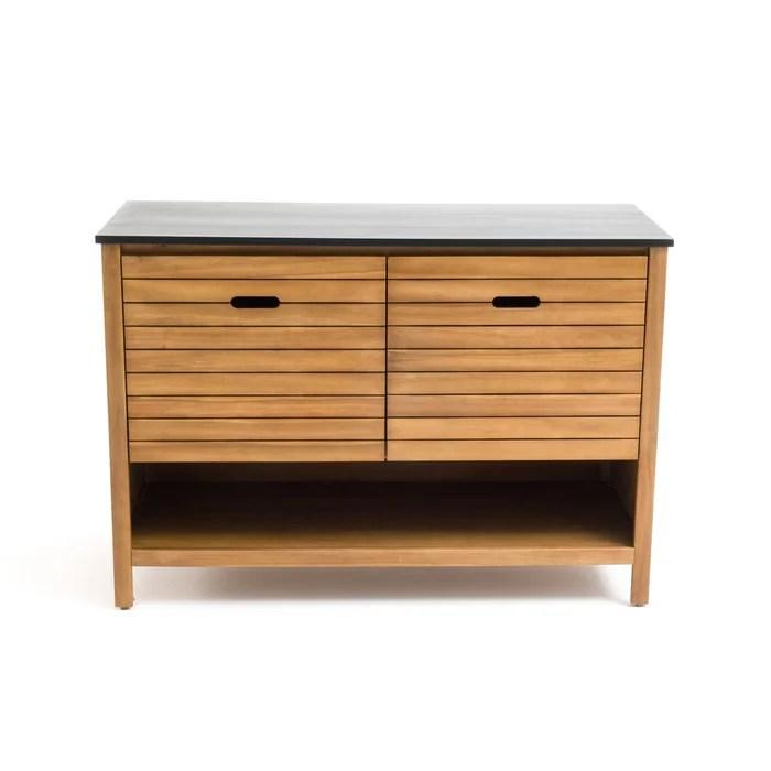 meuble sous vasque saturne acacia l120 cm