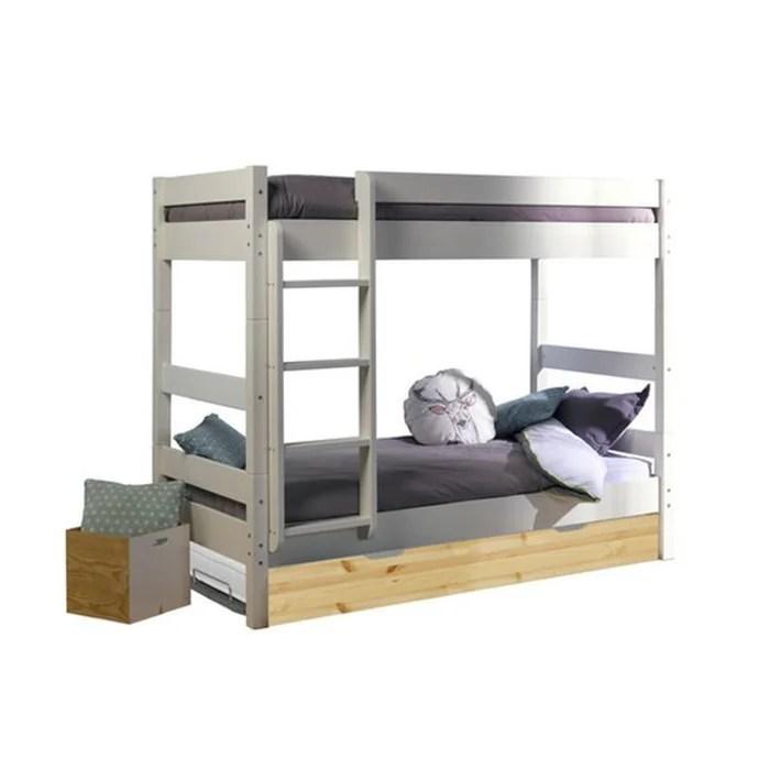 lit superpose avec sommier gigogne aaron