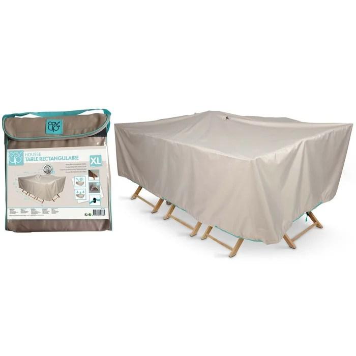 housse table de jardin rectangulaire 240 x 130 cm cov up