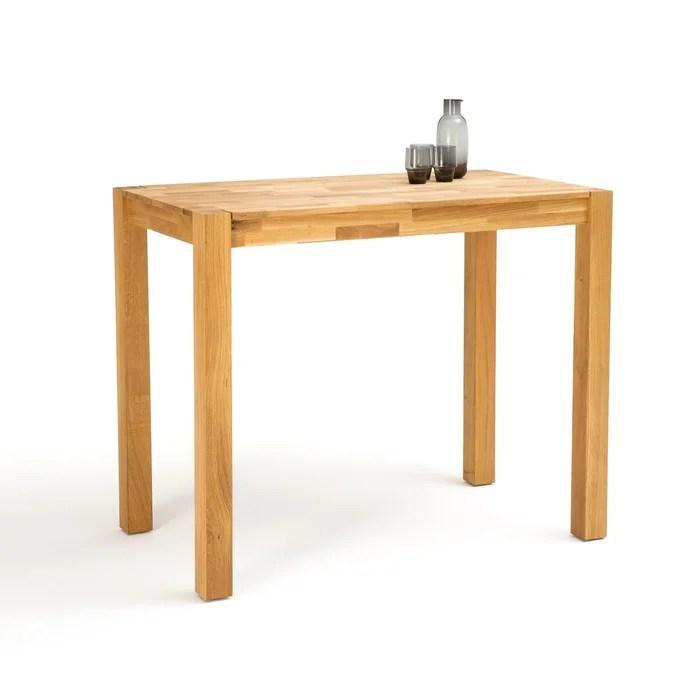 table de bar 4 couverts chene massif adelita