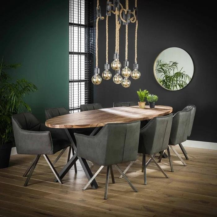 table a manger bois forme ovale 270 cm halifax