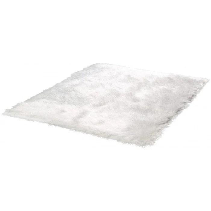 tapis effet peau de mouton brillant shaggy kaunas