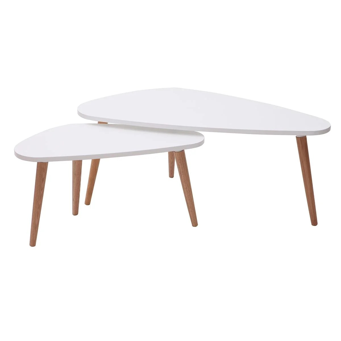 tables gigognes scandinaves et bois clair lot de 2 artik