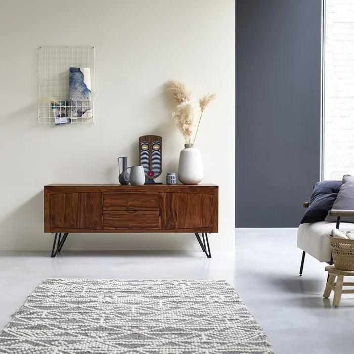 meuble tv en bois de palissandre massif bonnie 150 cm