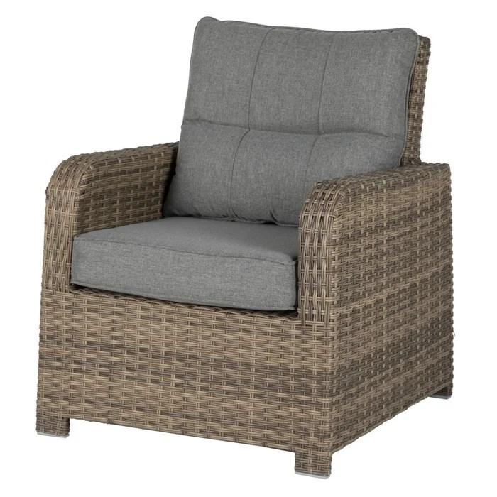 fauteuil de jardin en resine tressee artemisa