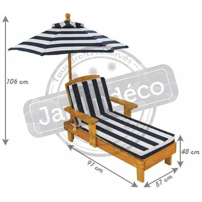 chaise longue d exterieur pour enfant avec parasol