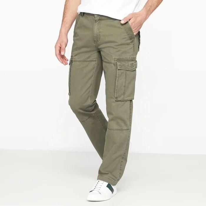 Pantalon Cargo Regular Pur Coton La Redoute Collections