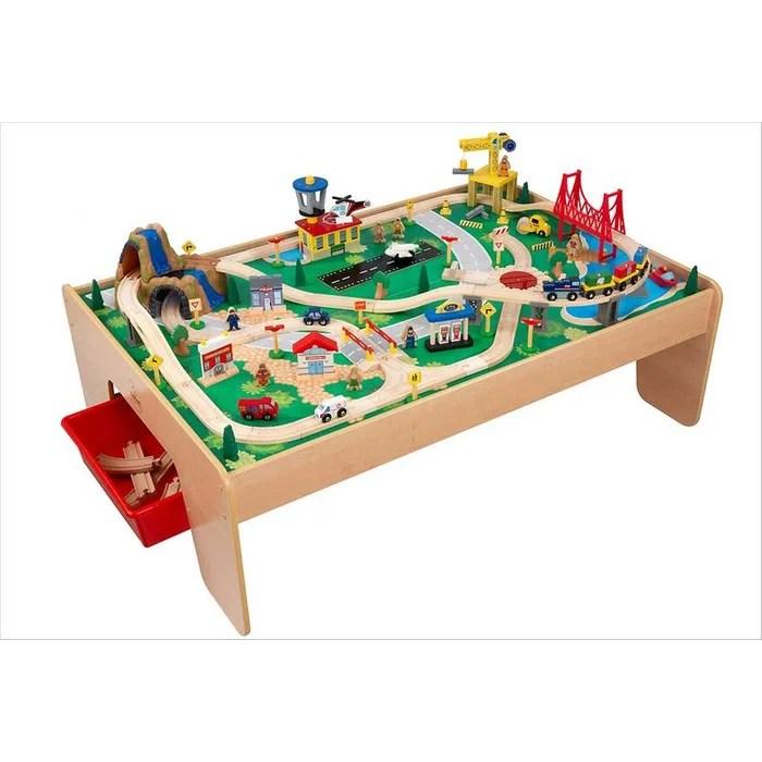 table circuit train waterfall mountain kidkraft