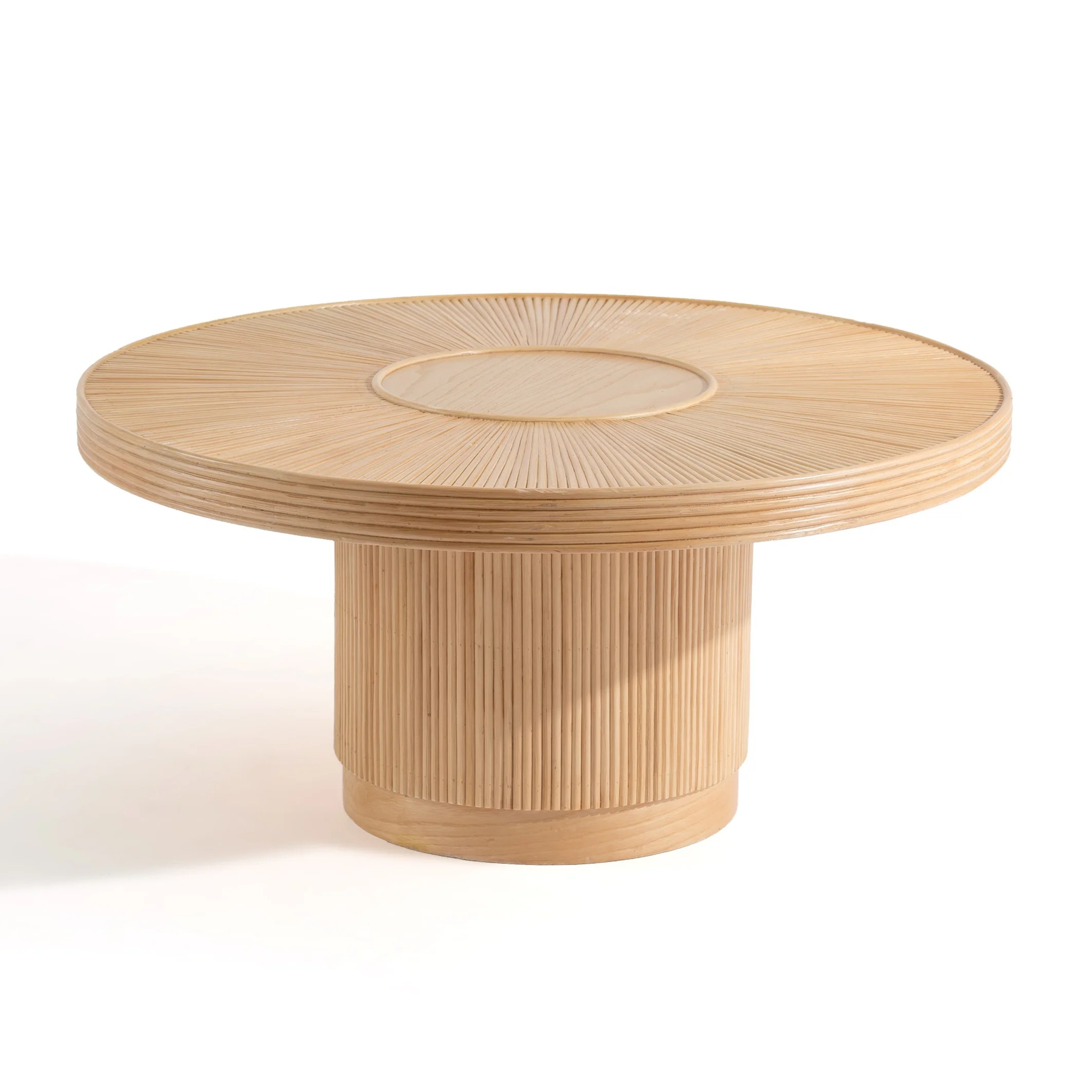 khai coffee table in rattan cane large