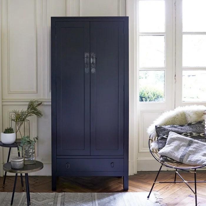 armoire en bois de java 180 thaki black acajou peint tikamoon la redoute