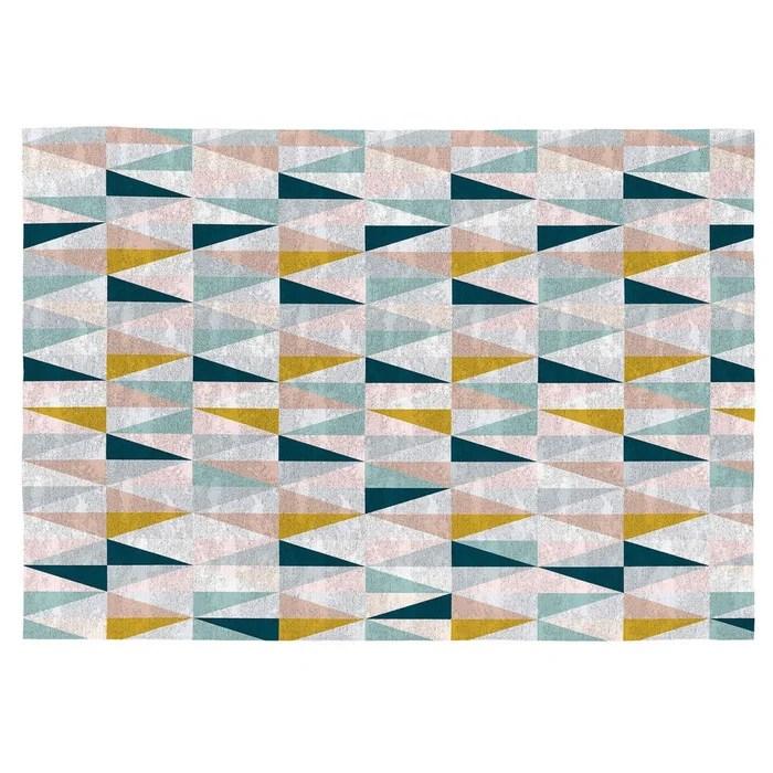 tapis scandinave en coton plat multicolore sansa