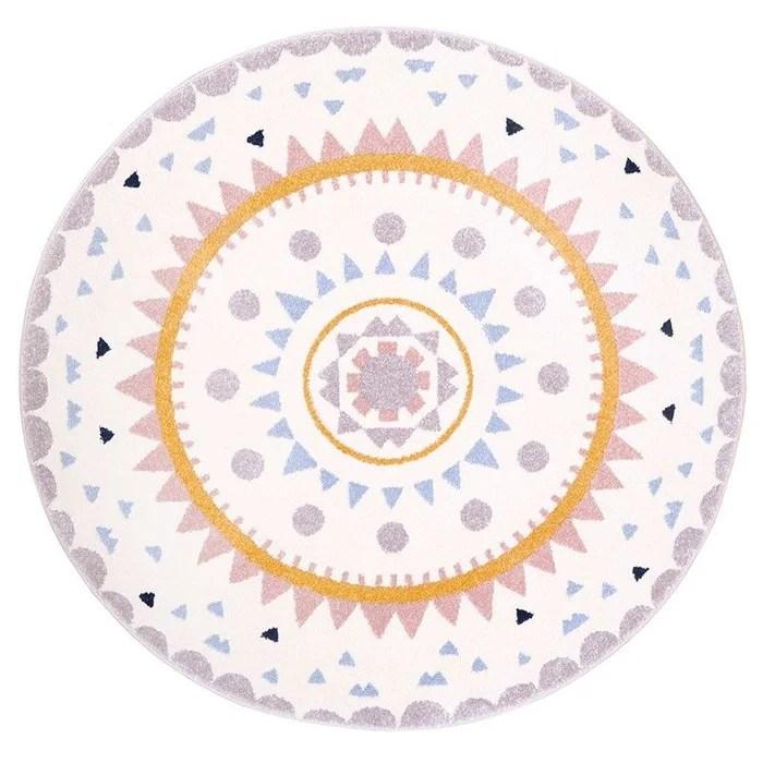 tapis enfant design multicolore nolita rond cree par nattiot