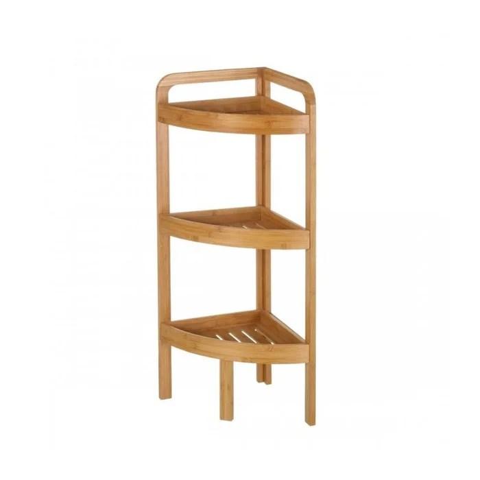 etagere d angle pour wc ou salle de bain en bambou