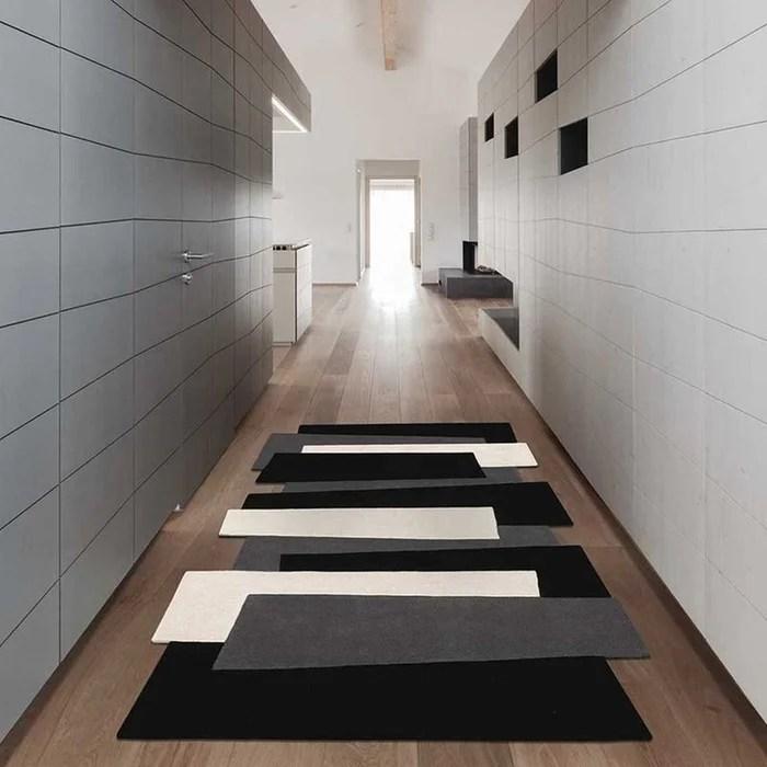 tapis de salon tapis moderne design pebbles long 50 laine de nouvelle zelande 50 laine de bikaner