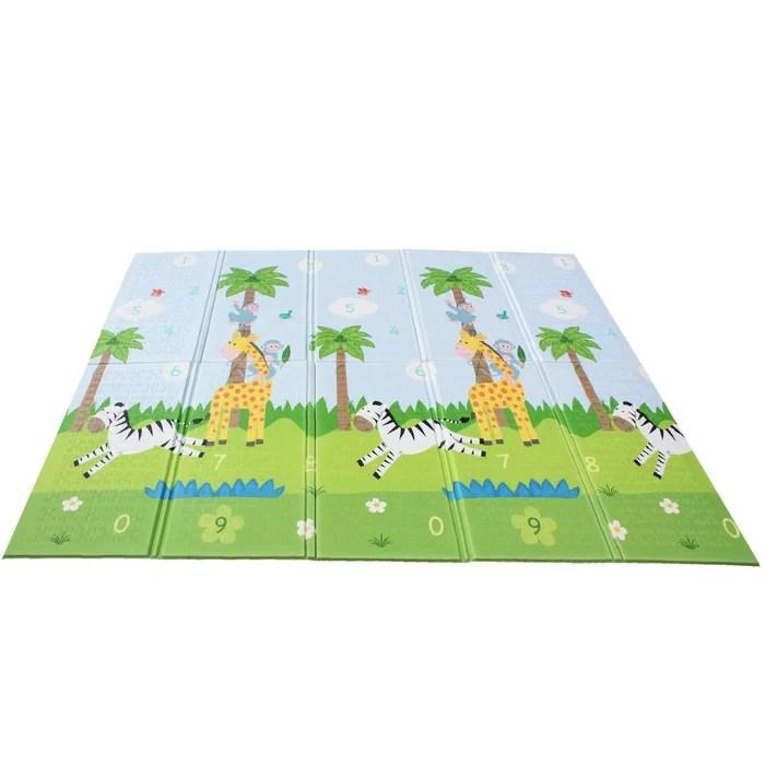 tapis de jeu d eveil pliable pour enfant bebe double face fantasy fields