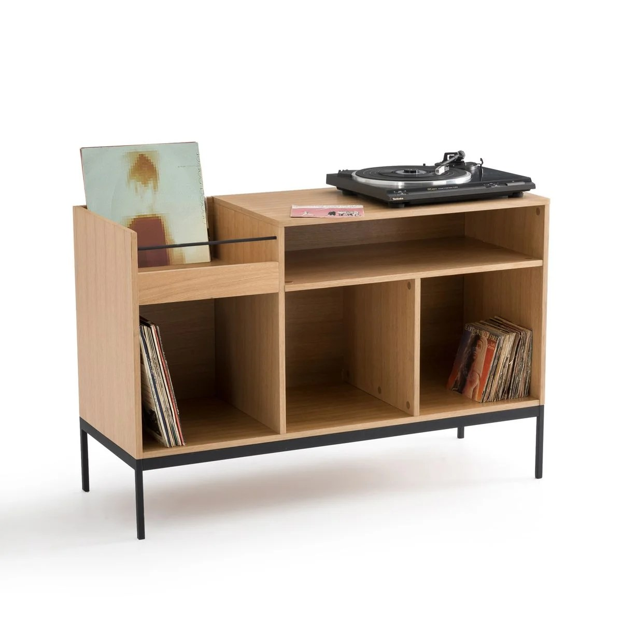 meuble vinyles en chene compo
