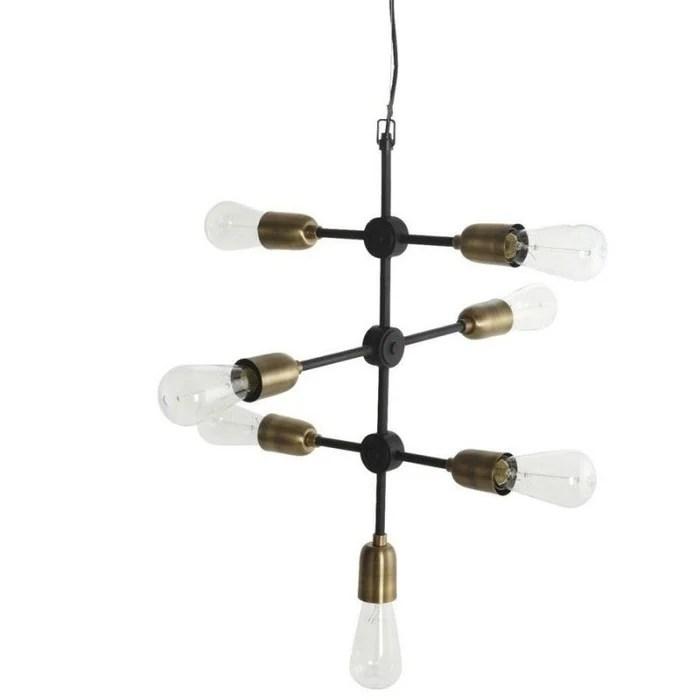 grande suspension industrielle metal 7 ampoules molecular
