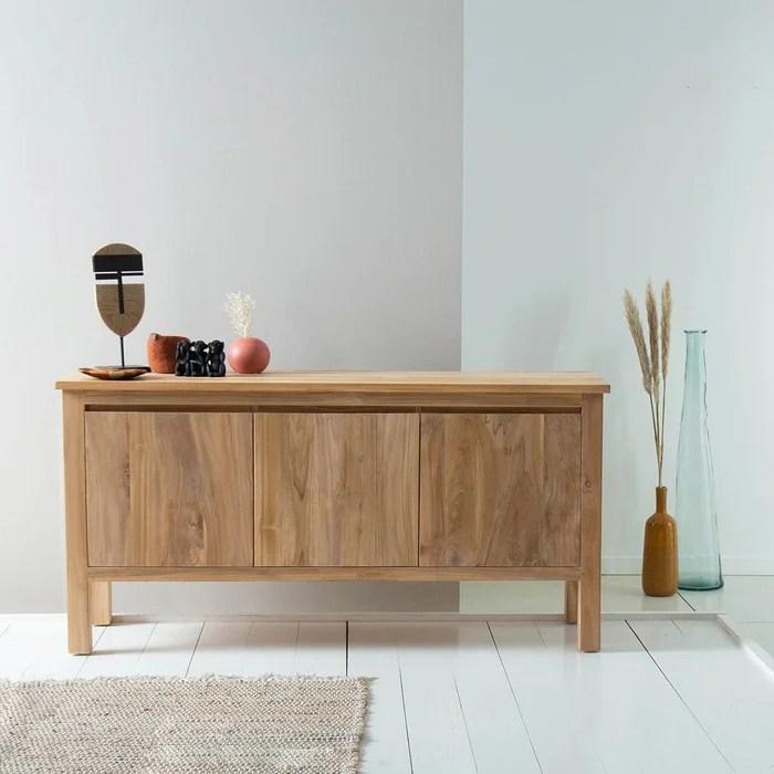 buffet en bois de teck 150 cm
