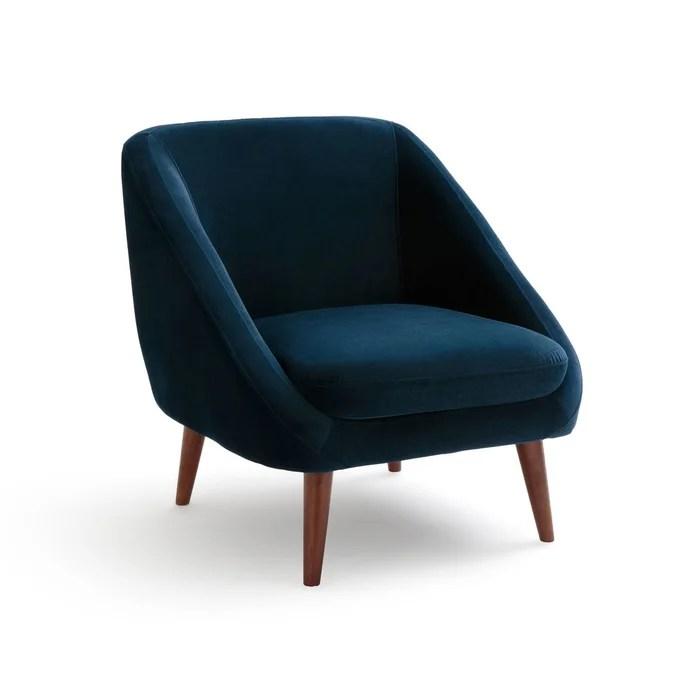 fauteuil velours semeon