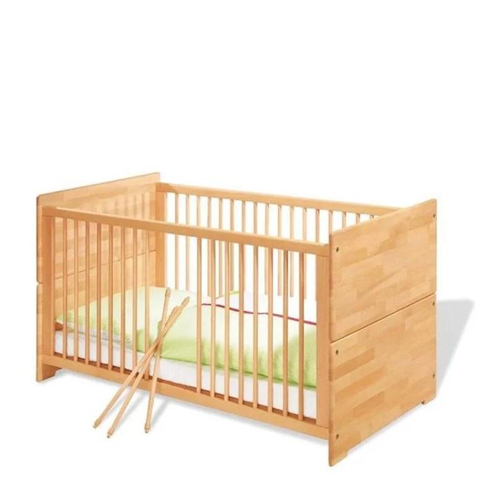 lit bebe evolutif natura bois massif huile 70 x 140