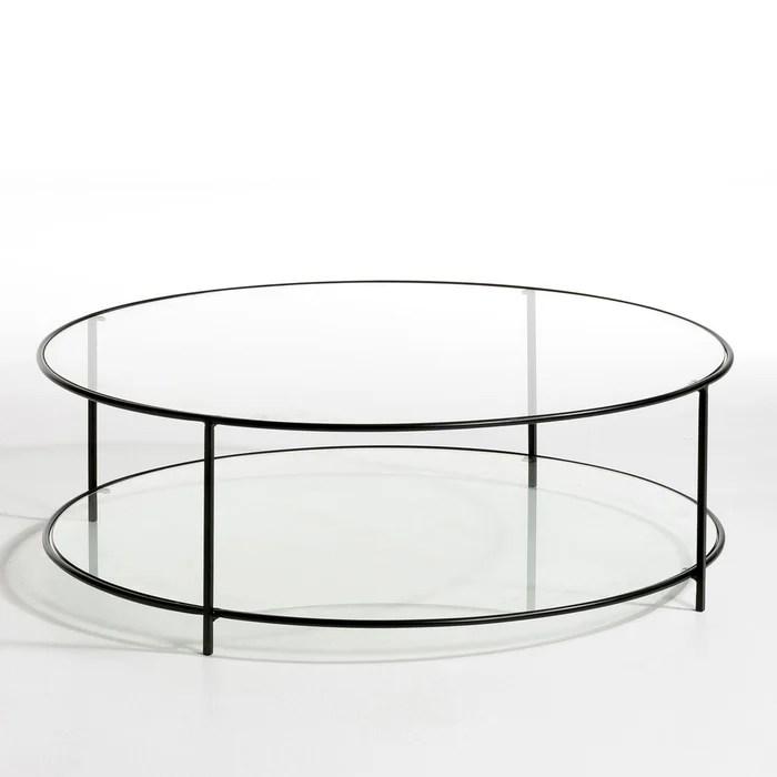 table basse ronde verre trempe sybil