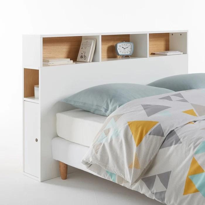tete de lit avec rangement biface