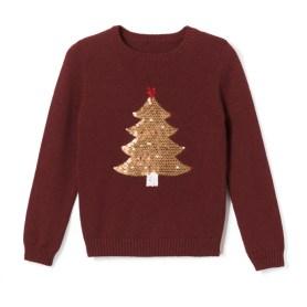 Imagen de Jersey con motivo de árbol de navidad y lentejuelas 3-12 años La Redoute Collections