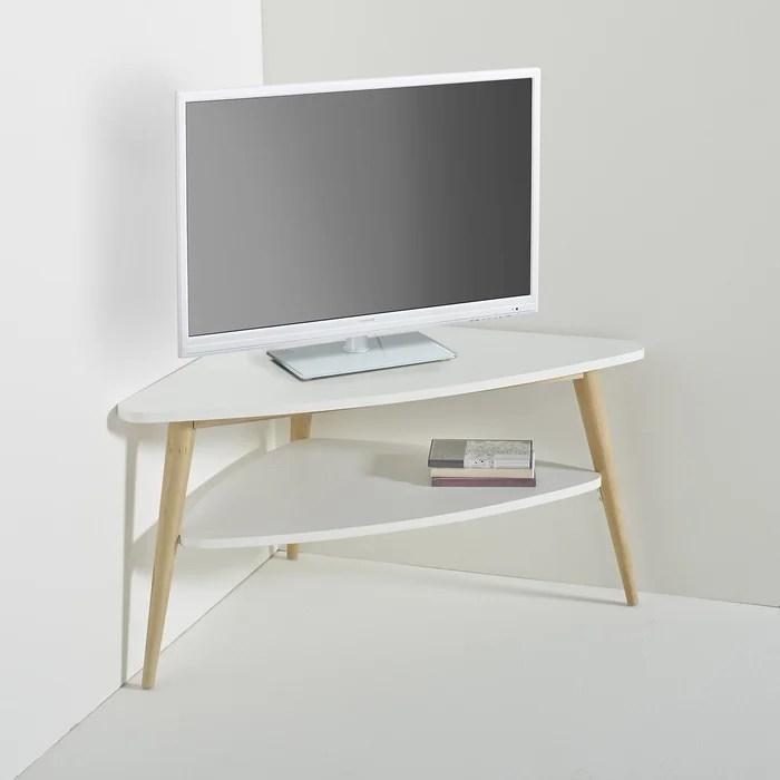 meuble tv d angle vintage double plateau jimi