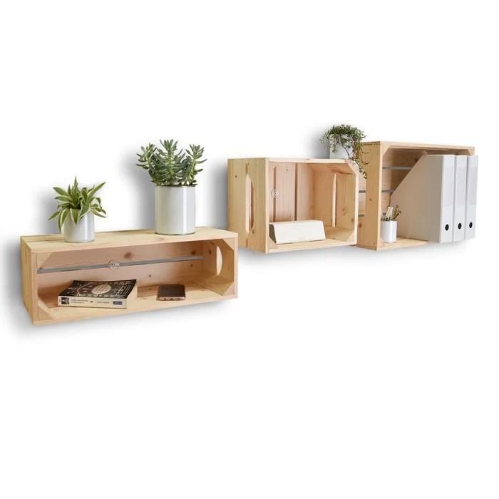lot de 3 etageres en bois profondeur 20 cm