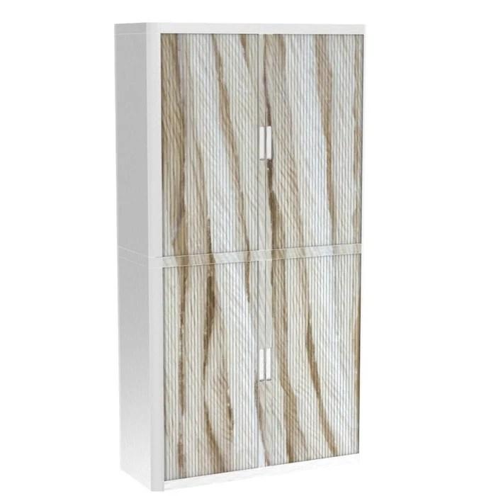 armoire de bureau metalique porte coulissante h 2m cordelettes