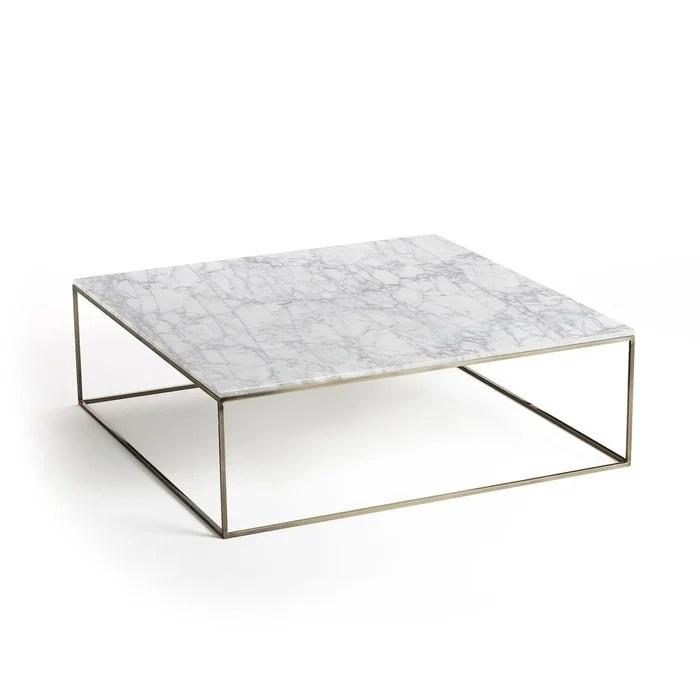 table basse effet laiton vieilli marbre mahaut