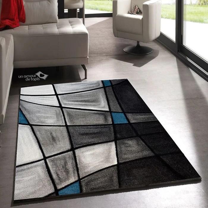 tapis moderne facile d entretien brillance 659