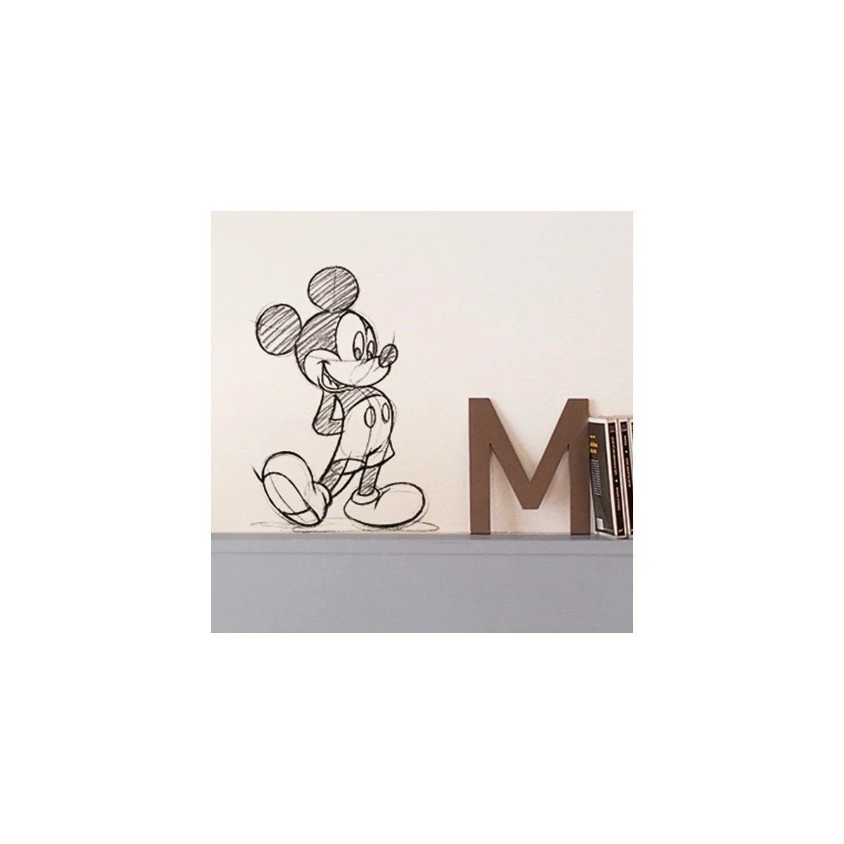 sticker mural mickey mouse croquis