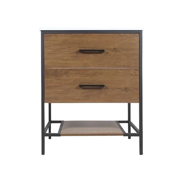 meuble salle de bain industriel 2 tiroirs 1 vasque petit modele