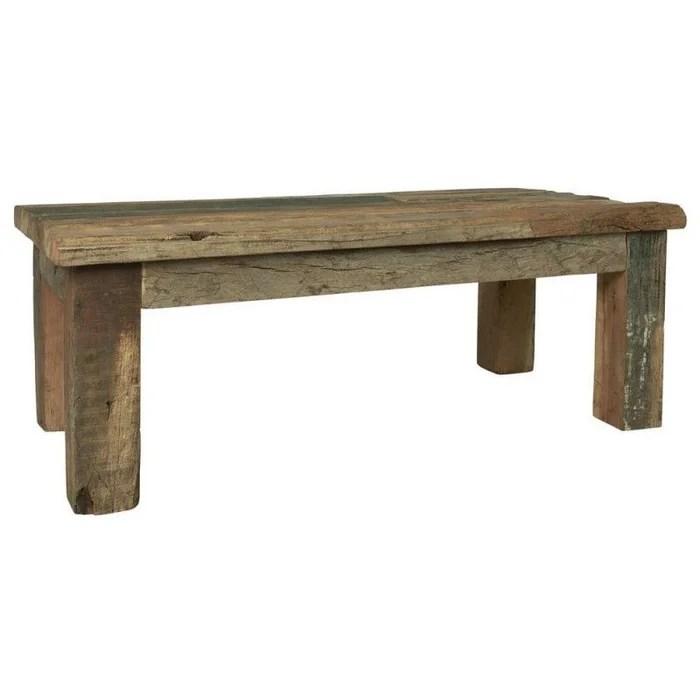 table basse bois rustique ancien recycle campagne unique