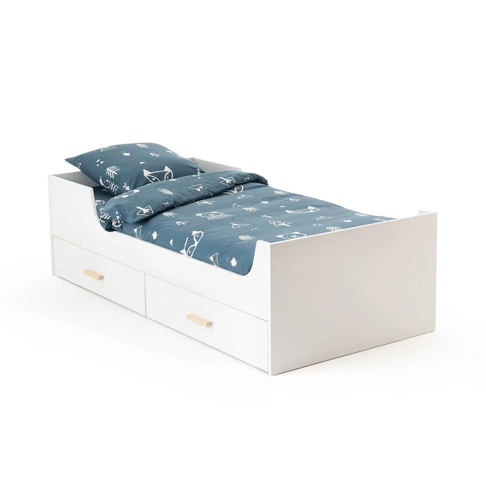 lit enfant avec sommier et 4 tiroirs elira